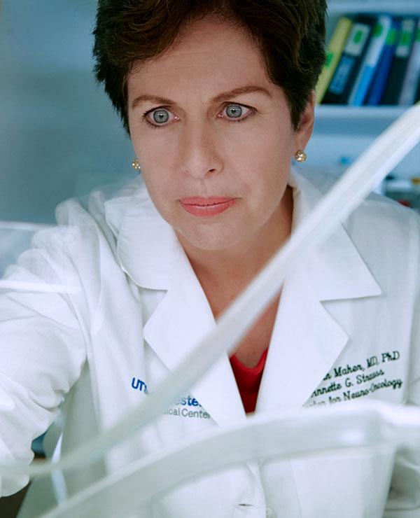 Image of Dr. Elizabeth Maher in her lab